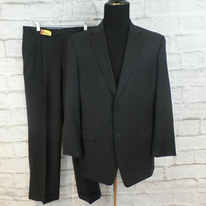 TOMMY HILFIGER Charcoal 2-Button 100% Wool Suit
